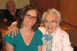 Dr. Meika Loe of Colgate University and a ninetysomething nonagenarian!